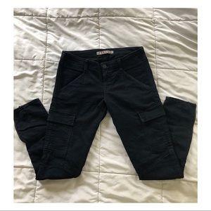 J Brand Dark Navy Cargo style pants.